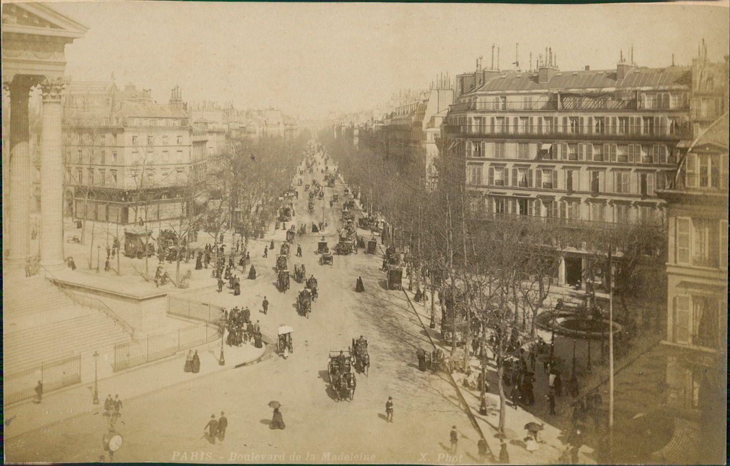 1889. Бульвар Мадлен