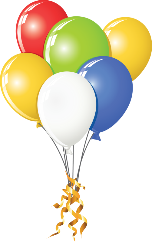 Классом, картинка с воздушными шарами на прозрачном фоне