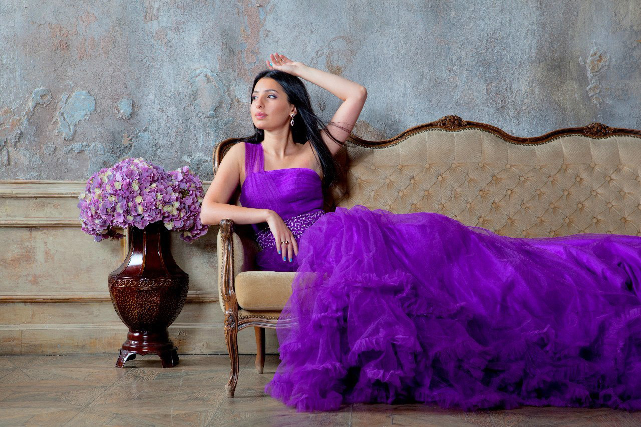 новогодняя фотосессии в платье
