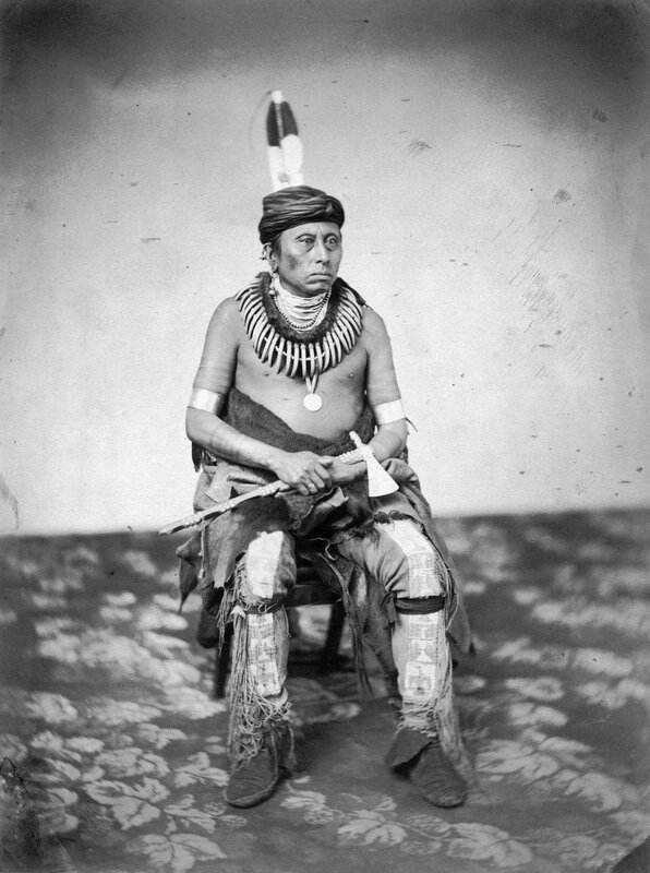 Ti-ra-wat-ka-da-huk, The Conqueror, a chief of the Grand Pawnees, 1858 or 1859