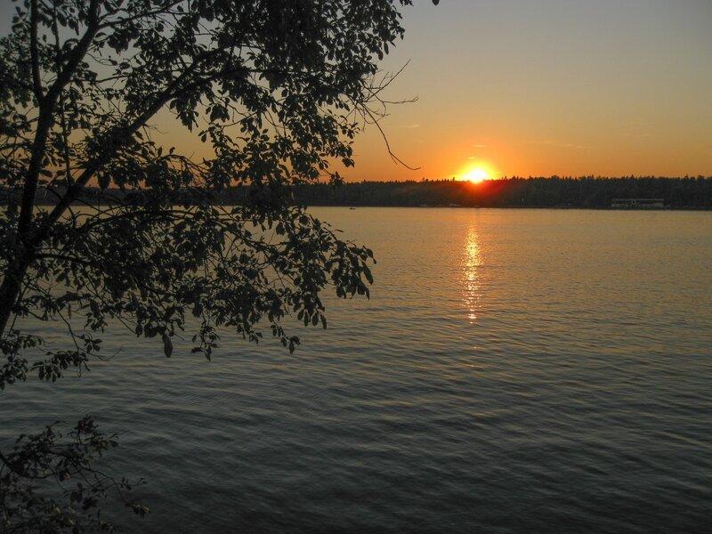 Закат, Пяловское водохранилище
