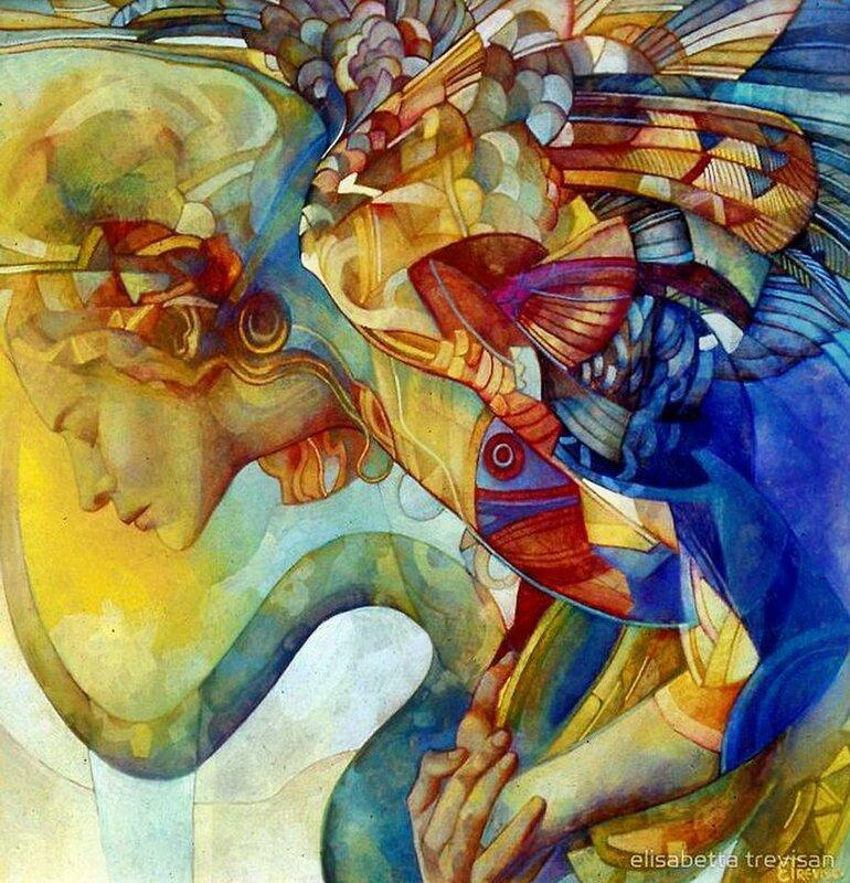 Расправлю руки - крылья... Художник Elisabetta Trevisan