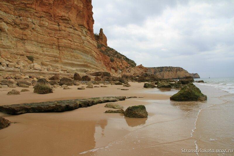 Юг Португалии, Алгарве, фото пляжа Порто де Мос