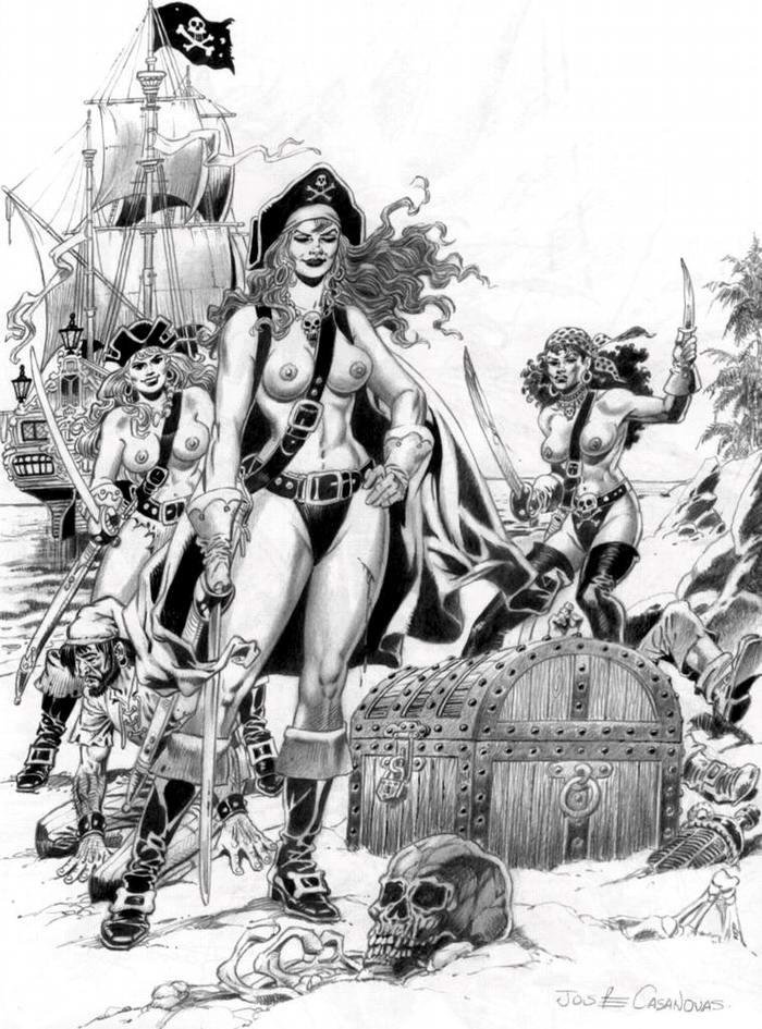 Графика: истории из жизни девушек - пираток (45)