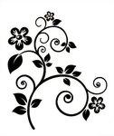 Цветы узоры черно белые