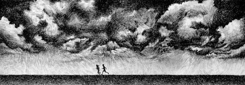 Чертили чёрными чернилами чертеж. Николас Джолли