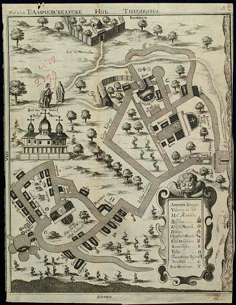 1789. План дальних и ближних пещер св. Антония близ Киева