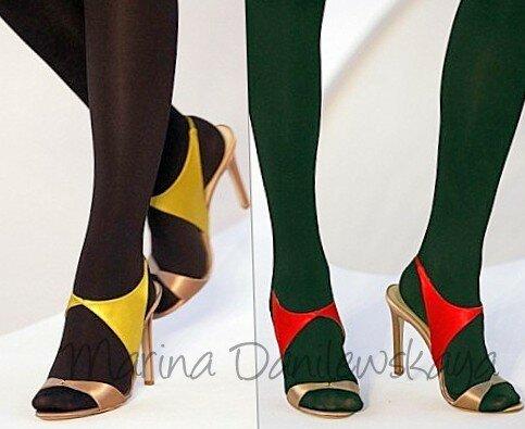 Чулки и открытый нос обуви Сайт 'ЖЕНЩИНА' Marina Danilewskaya