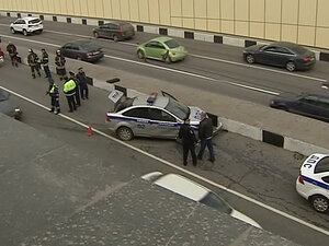 Наркоман угнал авто ДПС в Москве и устроил гонки