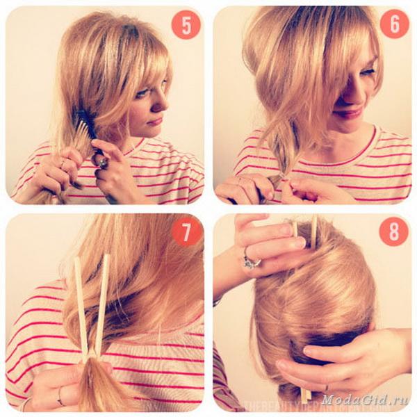 Пошаговая инструкция причесок на каждый день на средние волосы