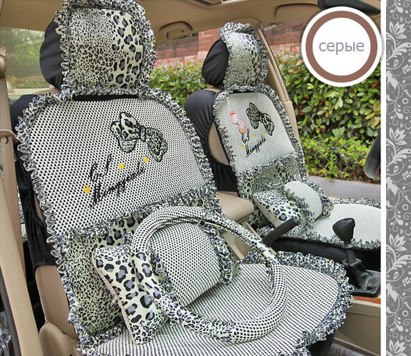 Чехлы для девушек и авто-леди.  Комплектация из 9 предметов: Чехлы на передние сиденья - 2 предмета Чехлы на...