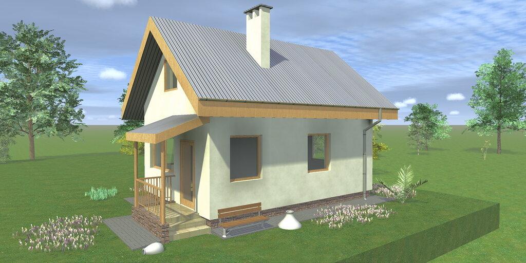 Проект и планировка деревенского дома с печкой и без нее