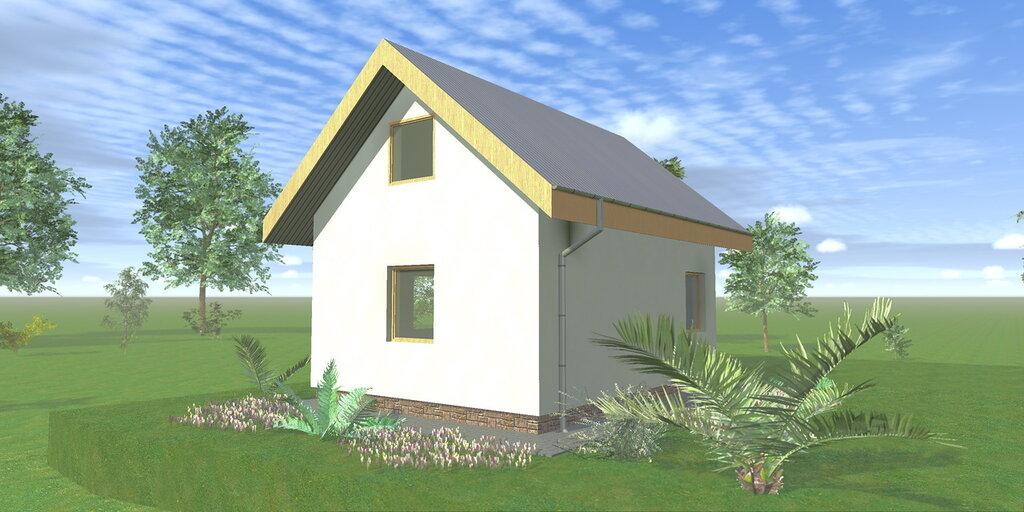 Проекты дачных домов с мансардой и верандой 6х6, 6х8, 5х7