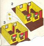 Дом с комнатами Lego