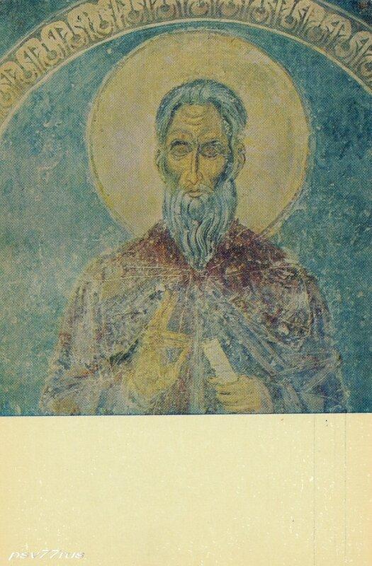 Суздаль.  Старец. Фреска Рождественского собора. XIII век.
