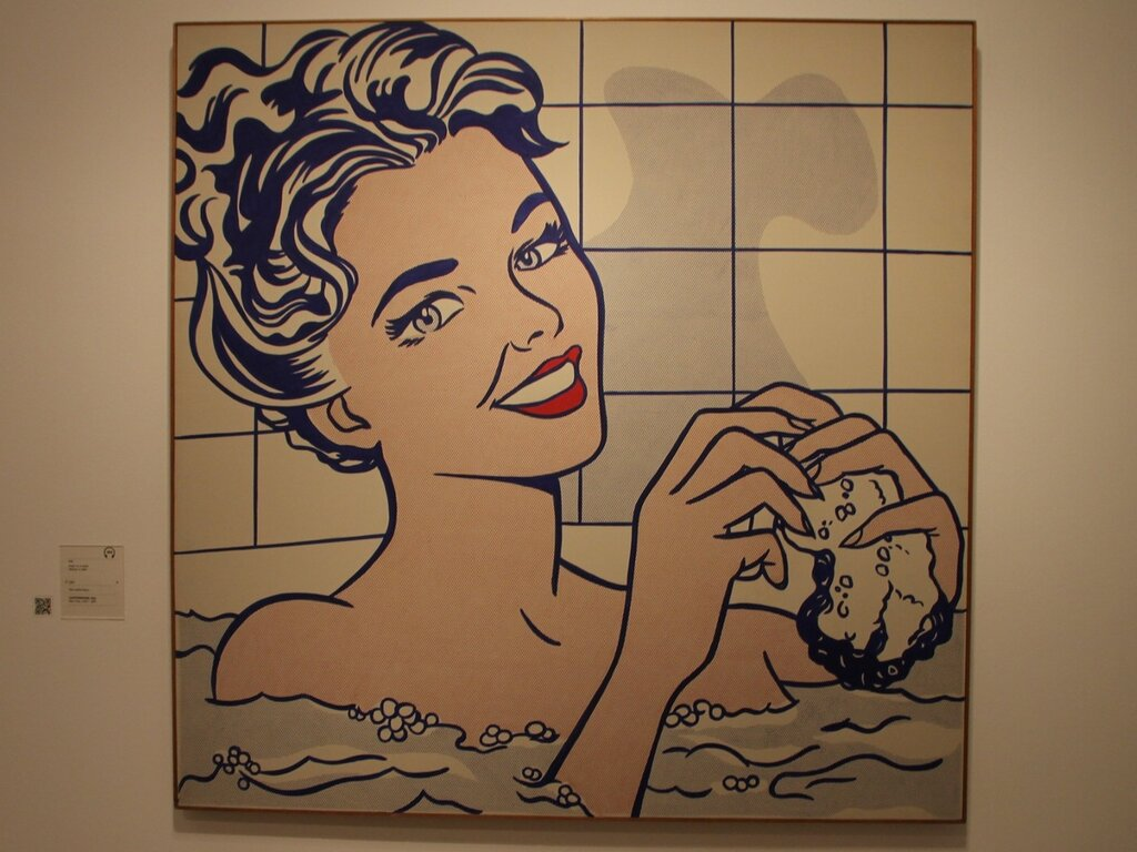 Рой Лихтенштейн (Roy Lichtenstein), Женщина в ванной (Woman in Bath), 1963.