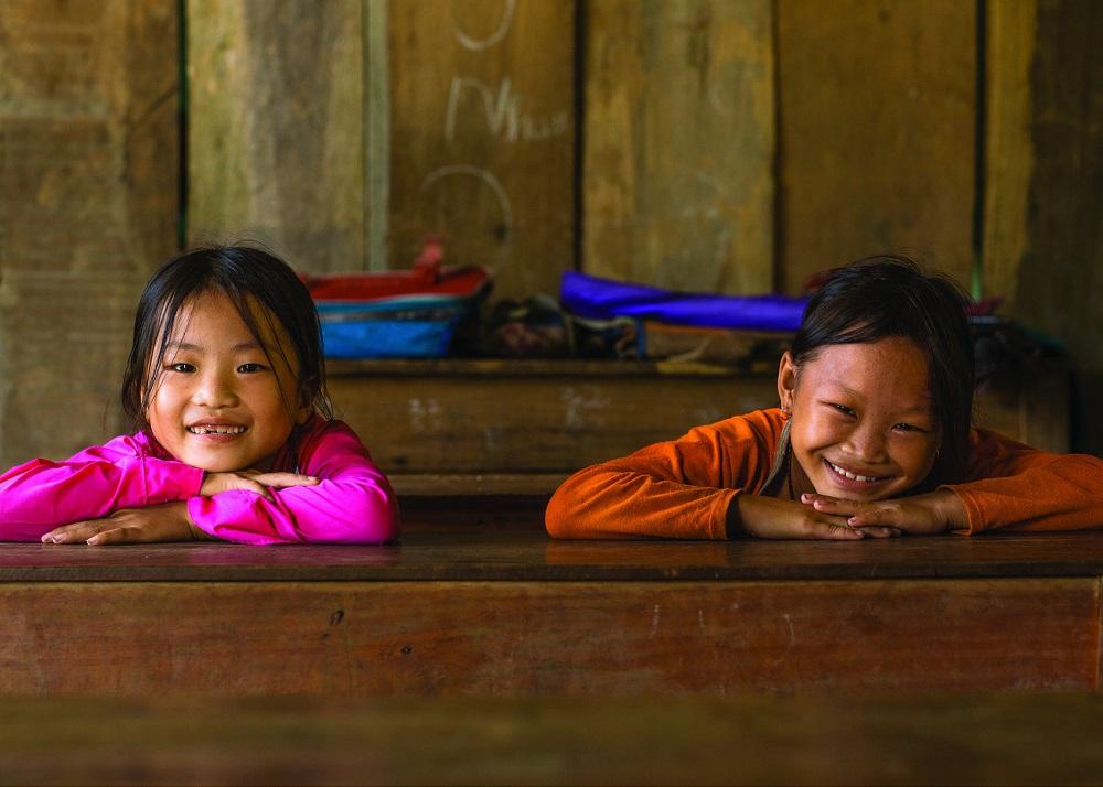 Дети в Куанг Ба.