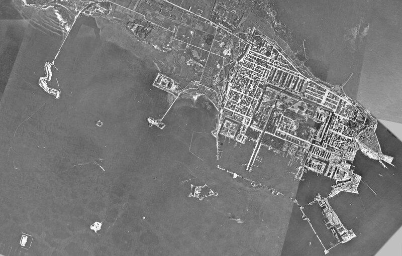 Город-крепость Кронштадт (немецкая аэрофотосъемка)