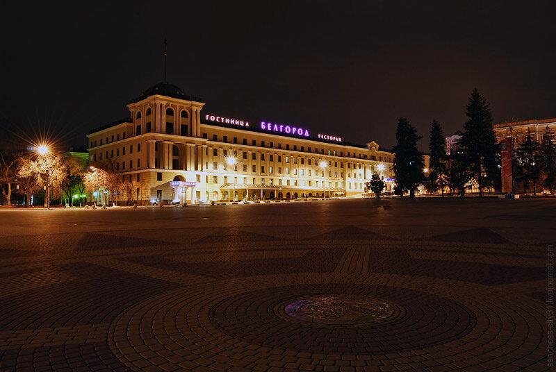 Белгород. Соборная площадь ночью