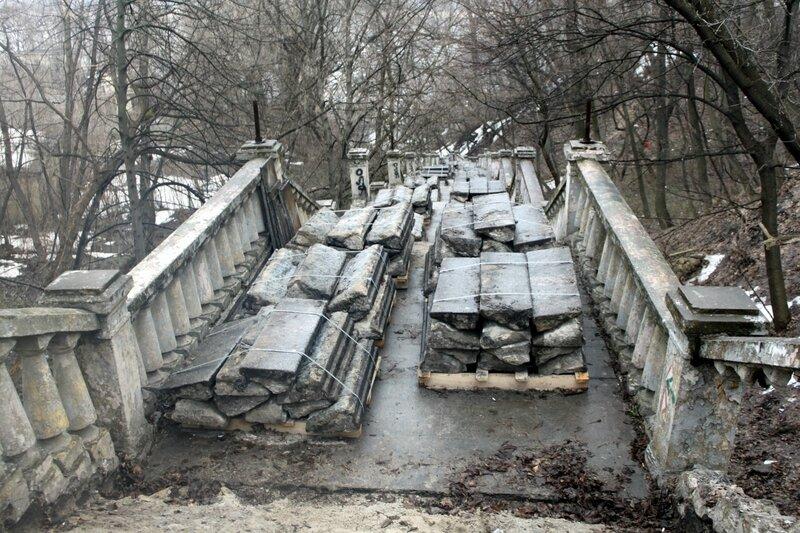 Утилизация старых лестничных ступеней