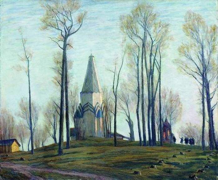 Николай Михайлович Чернышев (1885-1973). Весна в Коломенском. 1956