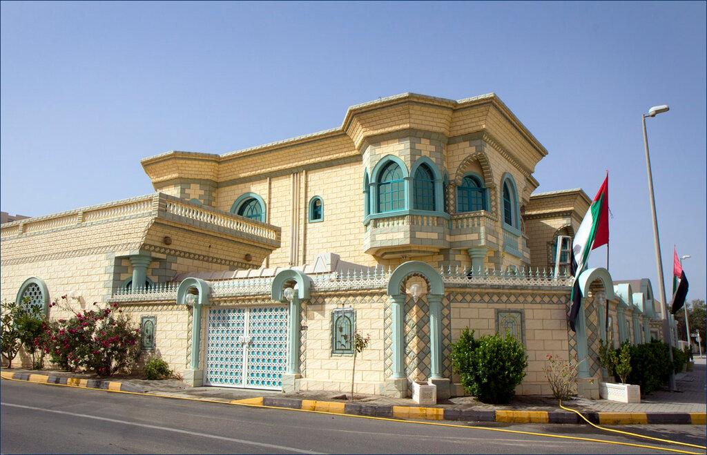 Casa residencial comum nos Emirados.