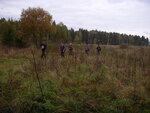 Пешая группа Андрея Чупикина была рада встрече с медленными бегунами на Деденевском поле