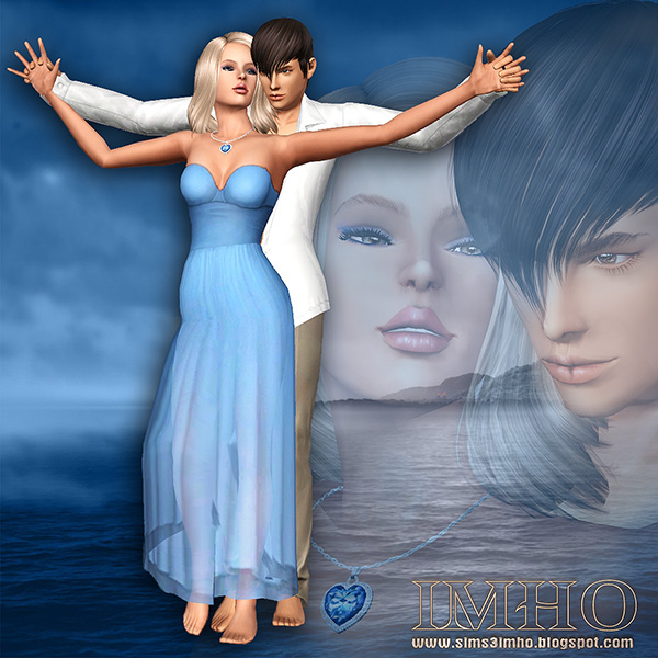 IMHO sims: 18 Poses Titanic  Heart of the Ocean TS3 by IMHO