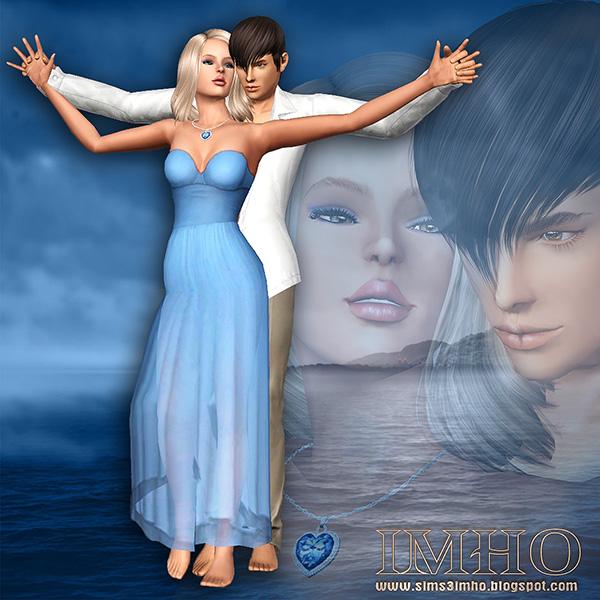 imho, male, female, model, poses, sim, sims 3, titanic, love