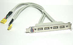 Установка планок USB на заднюю панель