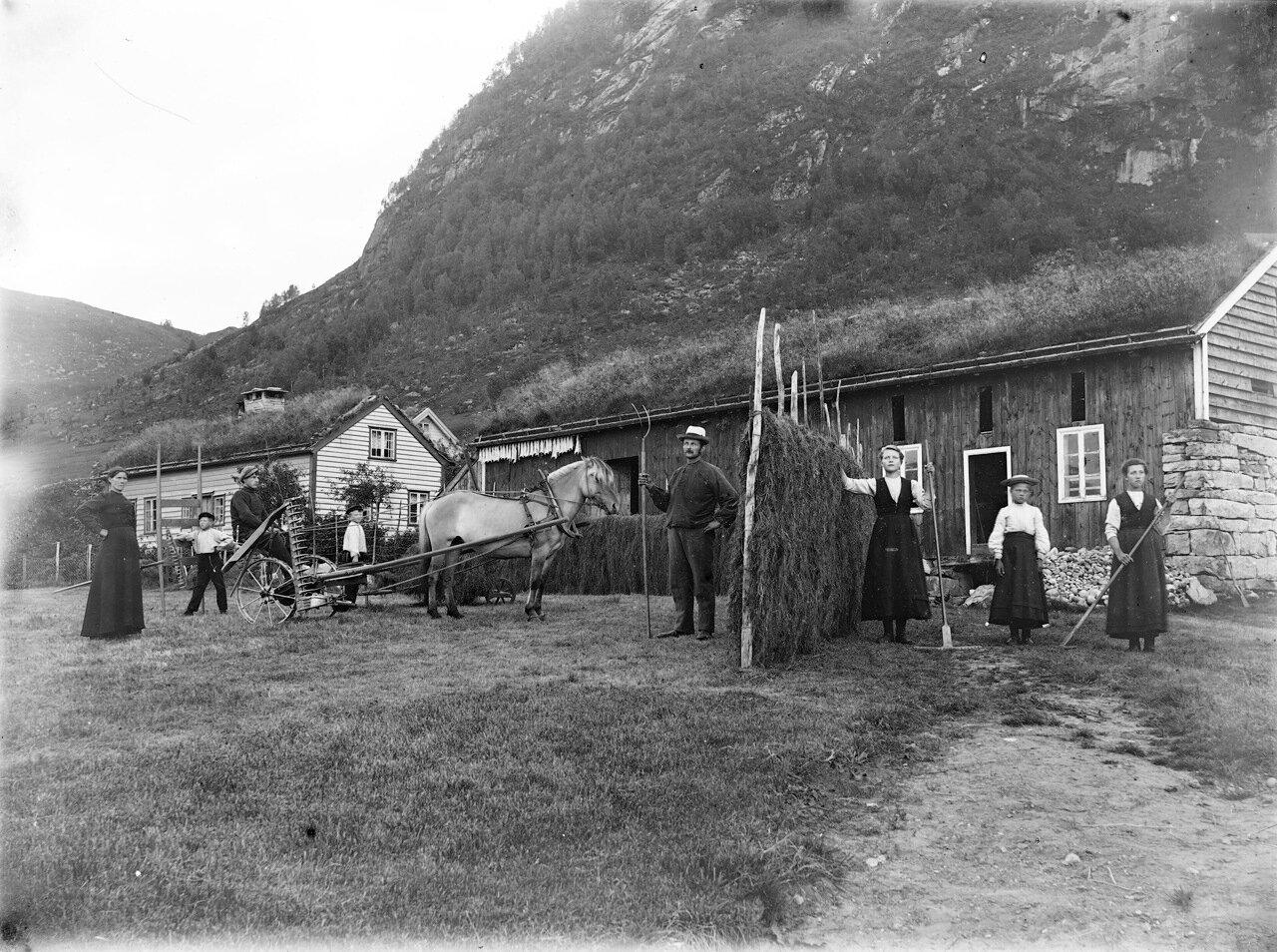 Ферма в Западной Норвегия ок. 1890-1910.