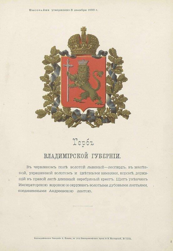 Владимирская губерния 1880 год
