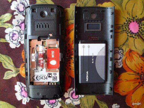 Nokia X2-02 (слот первой сим-карты)