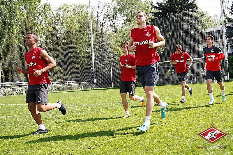 Тренировка «Спартака» перед матчем с «Краснодаром» (Фото)