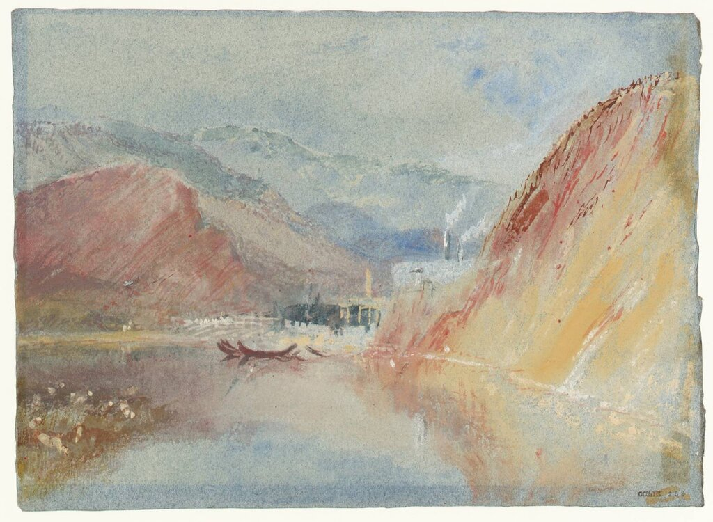 The Iron Forges of Quint circa 1839 by Joseph Mallord William Turner 1775-1851