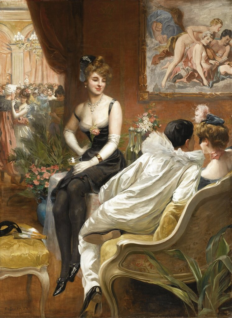 Frederic Dufaux II, 1852-1943. Бал-Маскарад. 152.5 х 112.5 см. частная коллекция.jpg
