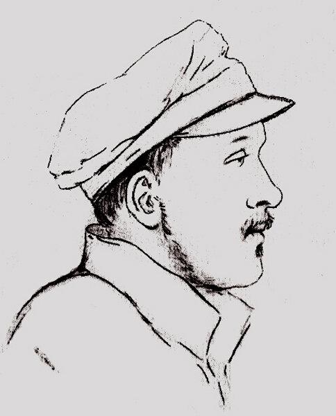 М. Ю. Лермонтов после валерикского боя. Пален Д. П. 23 июля 1840 г. Ед профильный портрет.jpg