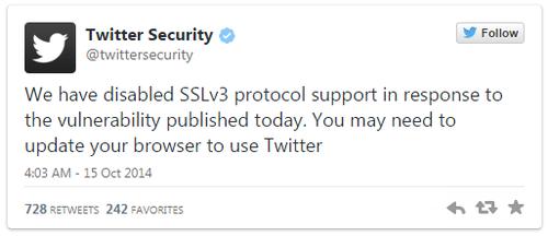 Twitter �������� ��������� SSL 3.0