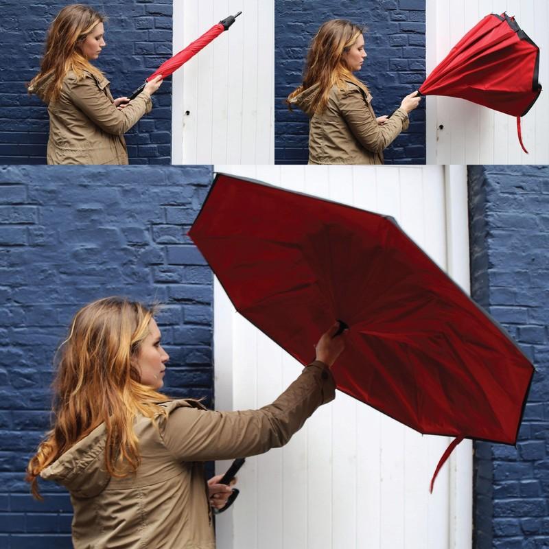 9. Зонт наизнанку Зонт, который складывается наизнанку, сухой стороной наружу.