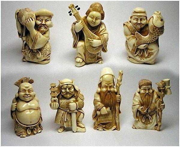 Семь богов счастья (Нэцкэ удачи)