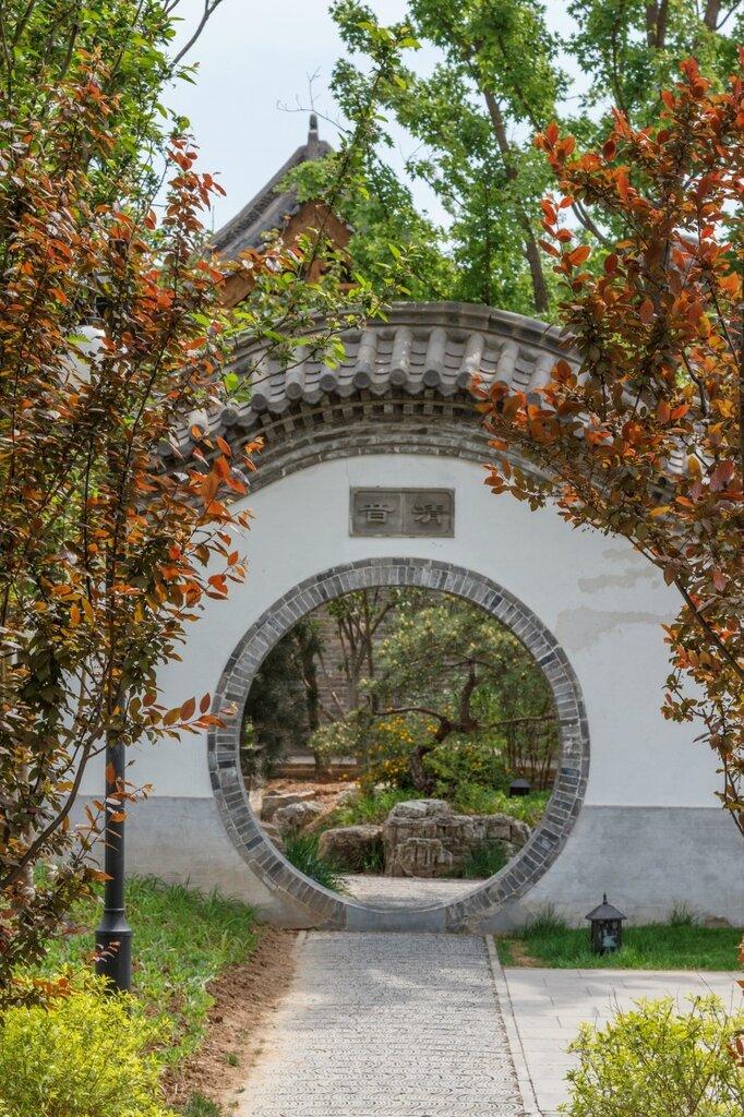 Круглые ворота, сад Цзиньчжун, парк-выставка садов, Пекин