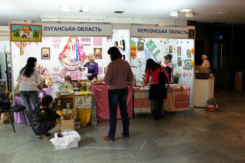 Павильоны Луганской и Херсонской областей