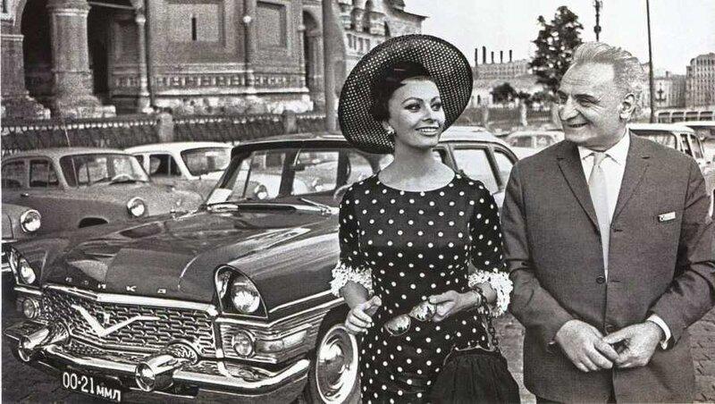 Софи Лорен и Витторио де Сика.
