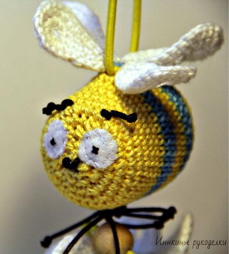 Синяя с желтым пчелка