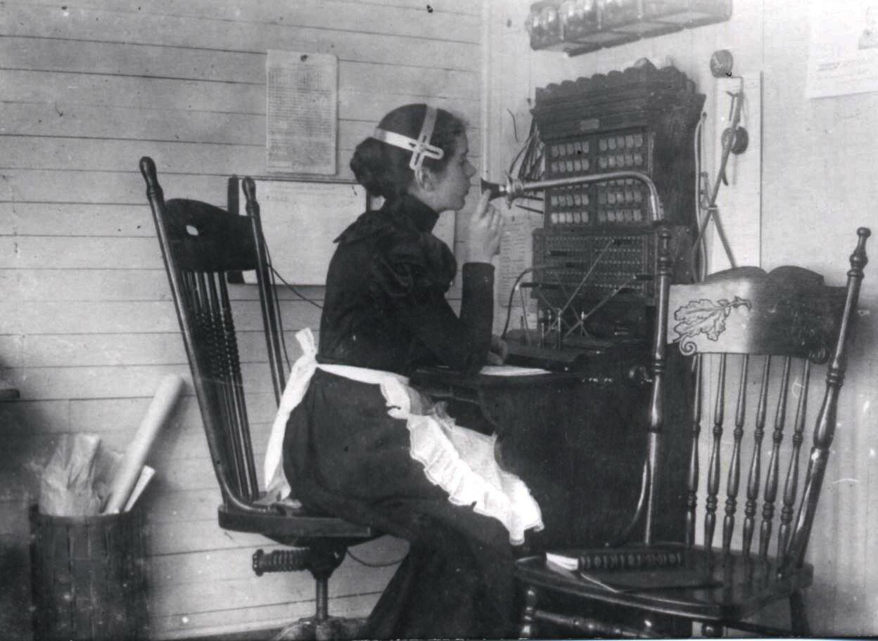 Телефонный оператор, ок. 1904 года