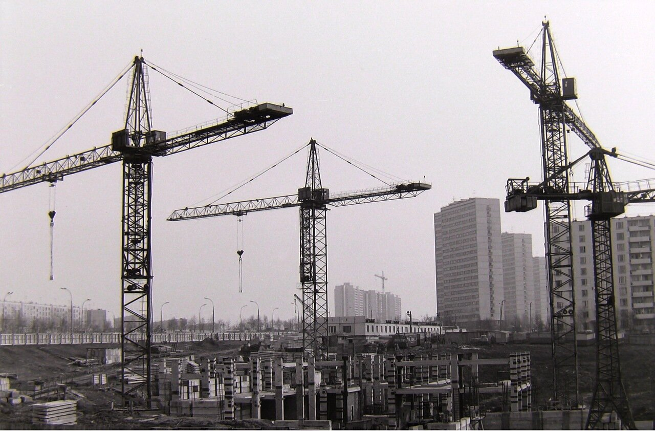 1976. Москва, Юго-запад, стр-во гос. Спорт