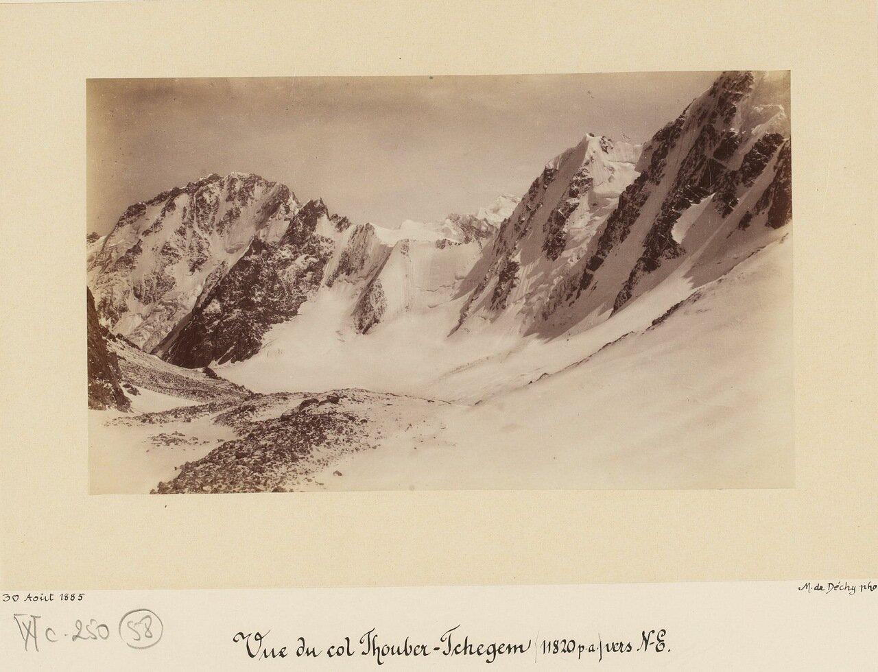 Перевал Тубер-Чегем на северо-востоке