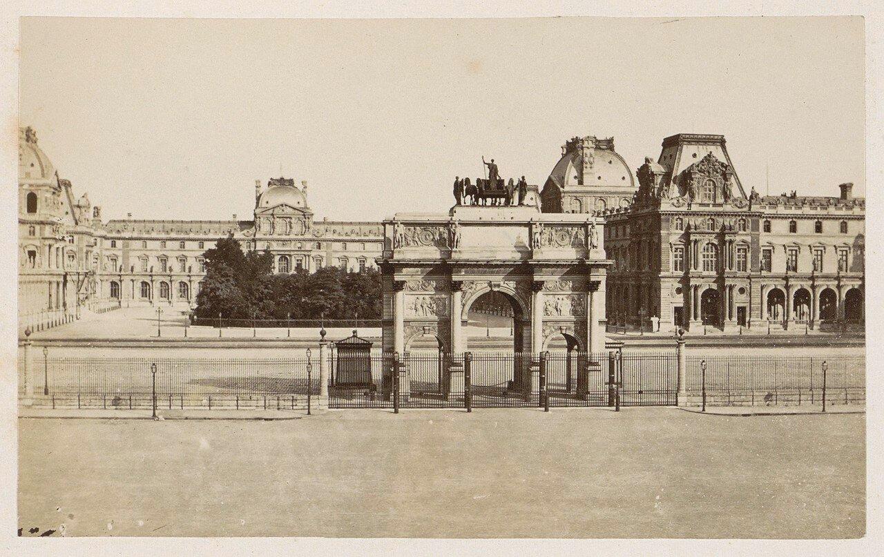 1878. Вид на Лувр