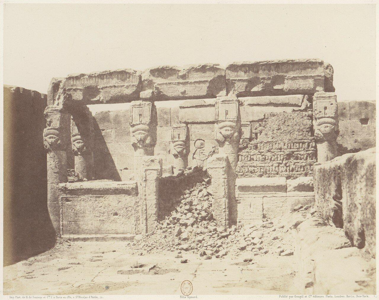 Дендера. Храм Исиды. Святилище в юго-западной части храма