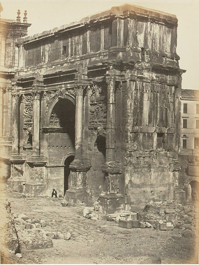 Арка Септимия Севера на римском Форуме.1858